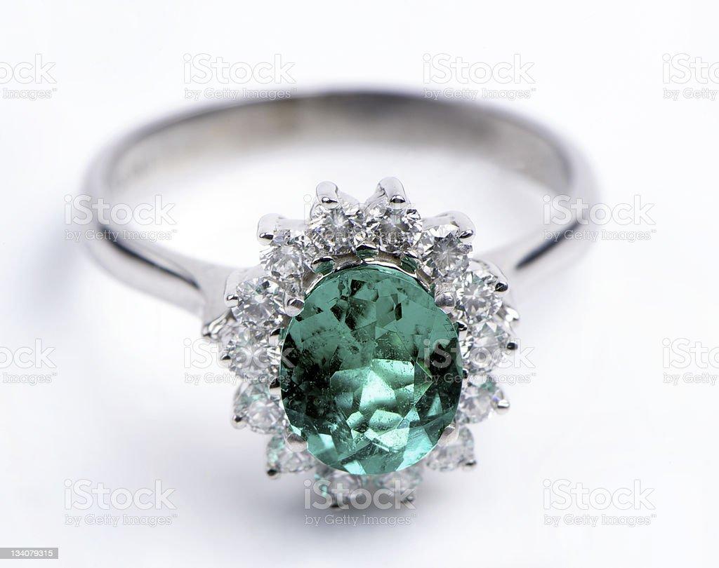 Emerald Ring stock photo