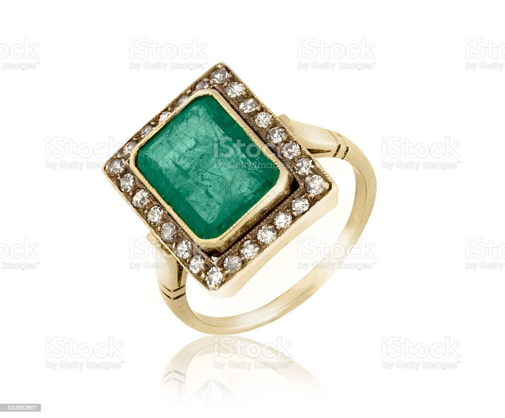 Emerald Ring stock photo