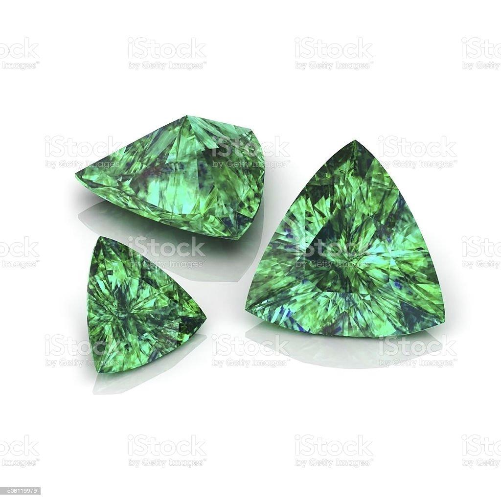Emerald Trilliant stock photo