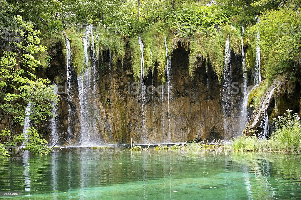 emerald waterfalls royalty-free stock photo