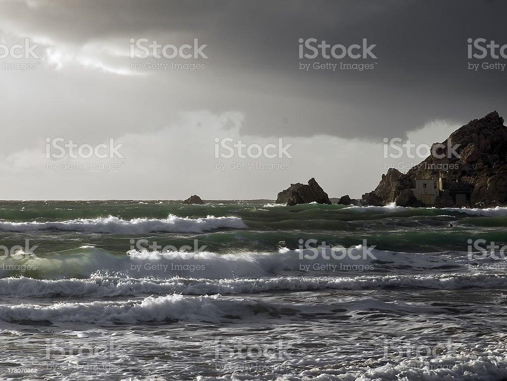 Emerald Waves royalty-free stock photo
