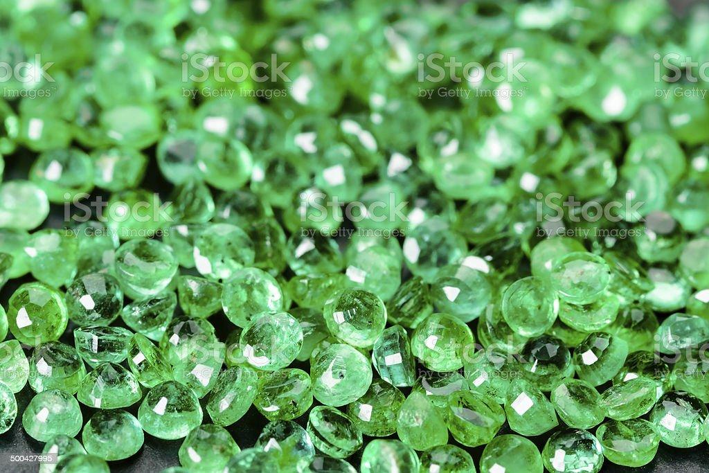 Emeralds, lots of stock photo