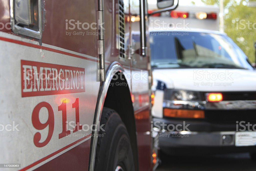 Emergency 911 Scene stock photo