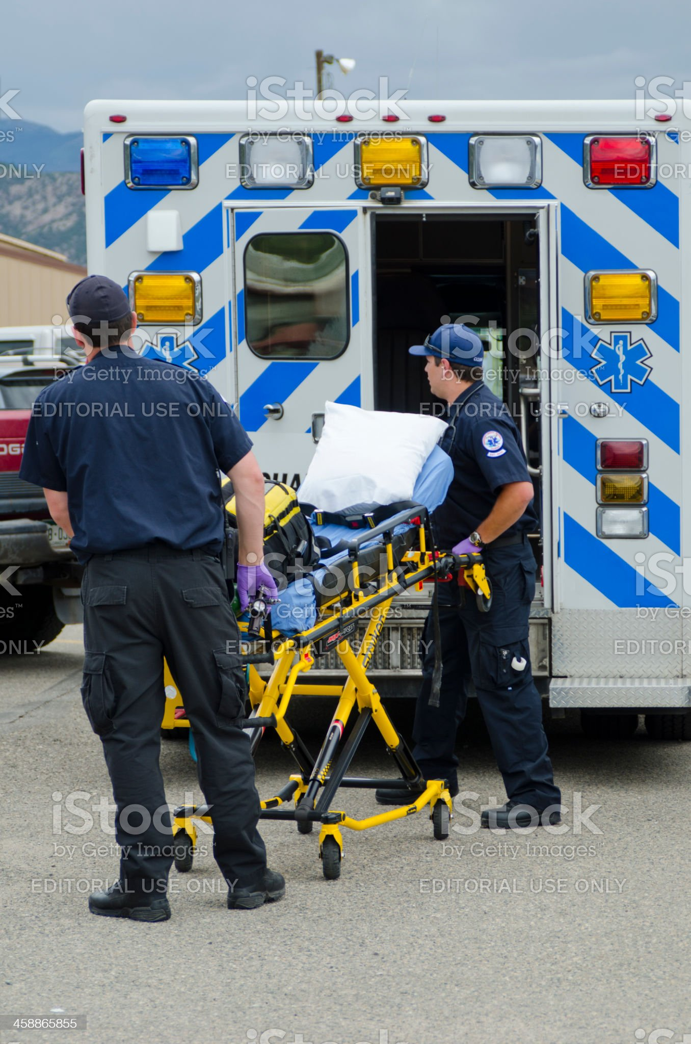 Emergency Ambulance Call royalty-free stock photo