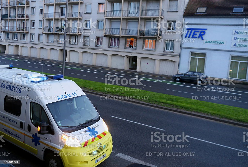 Emergency Ambulance car stock photo