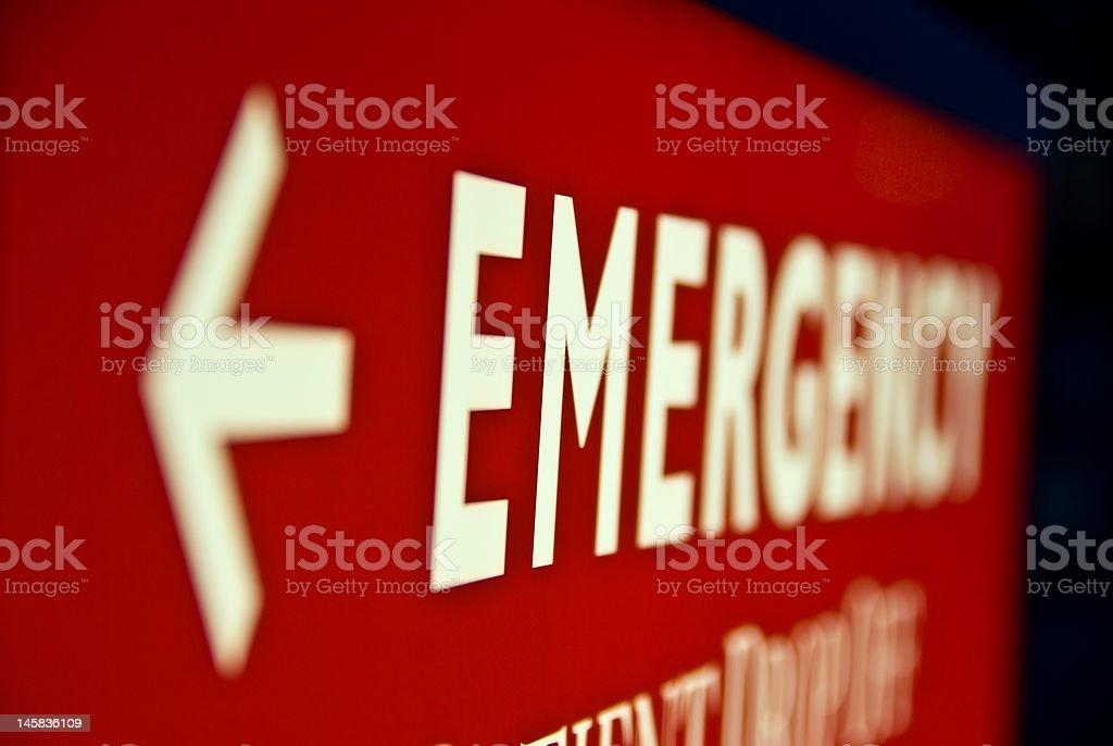 Emergency Arrow Sign stock photo