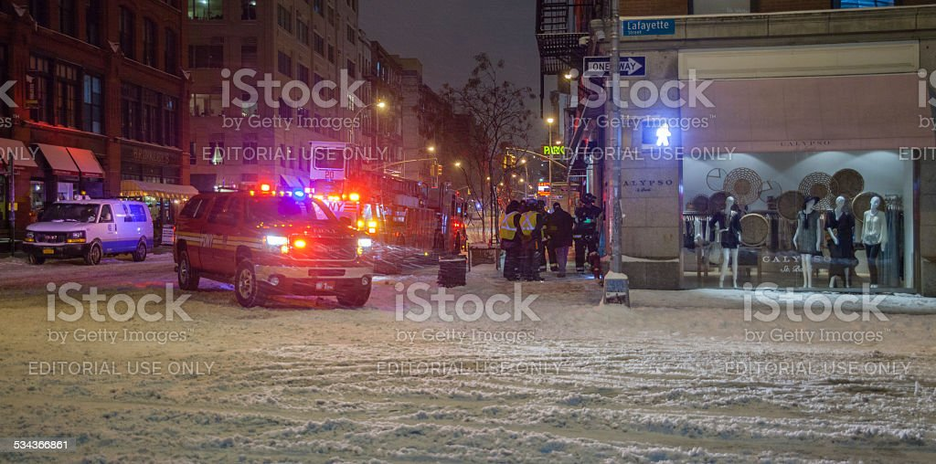 Emergency at the Lafayete street stock photo