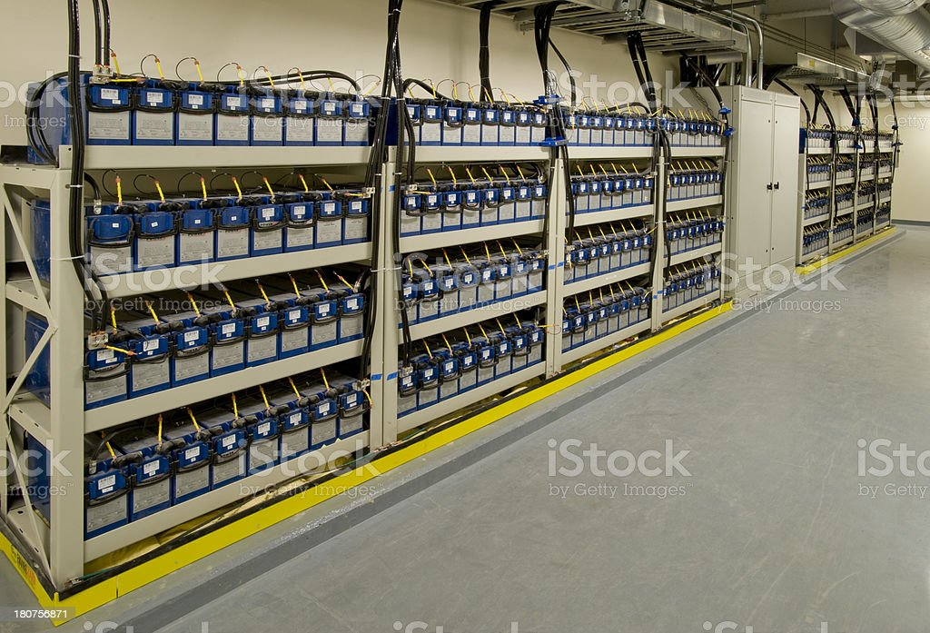 Emergency Back-up Batteries stock photo