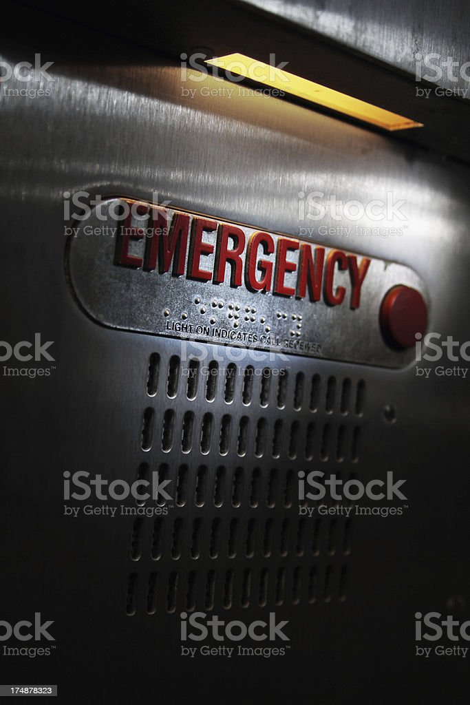 Emergency Box Button - vertical stock photo