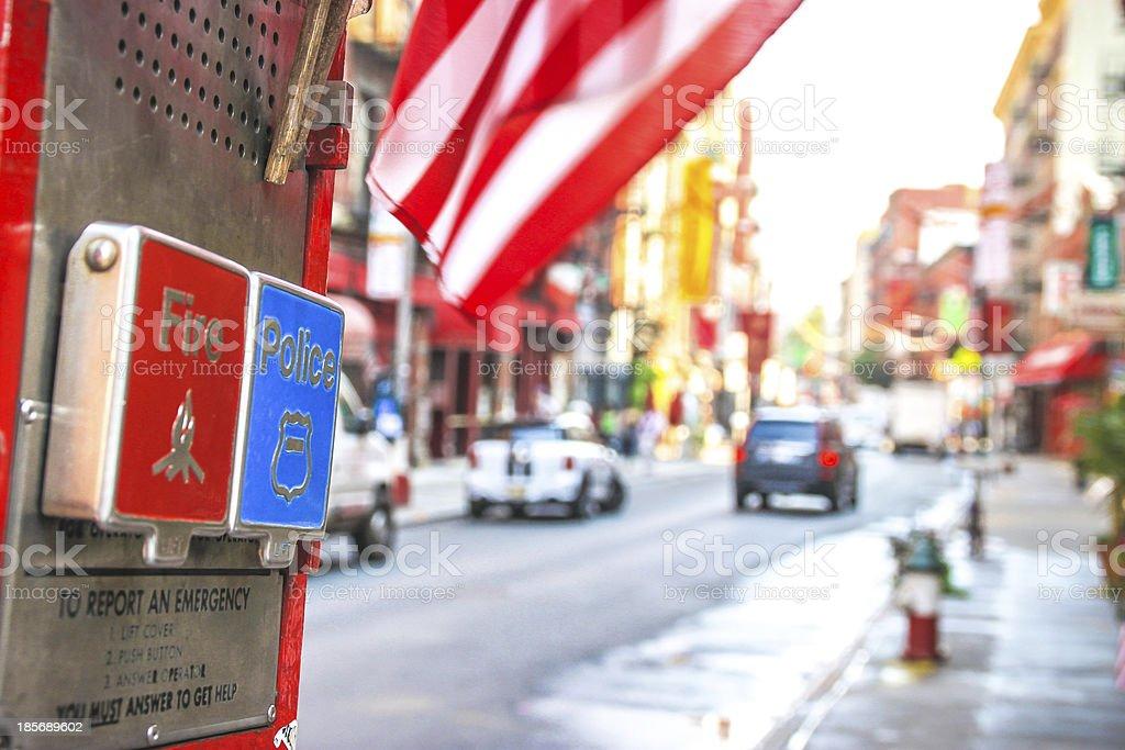 Emergency Box in New York. royalty-free stock photo