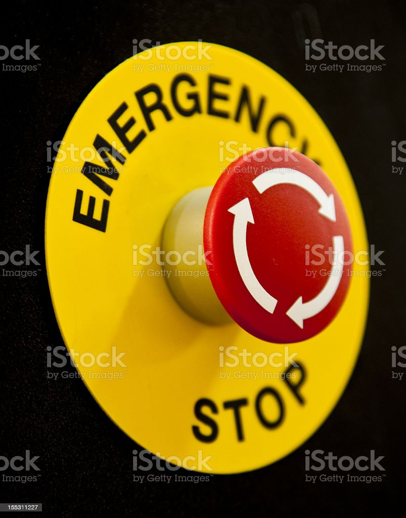 Emergency Button royalty-free stock photo