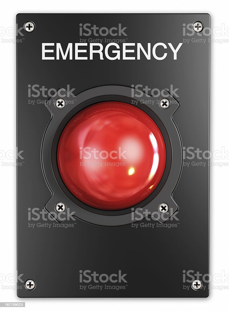 Emergency Button. stock photo
