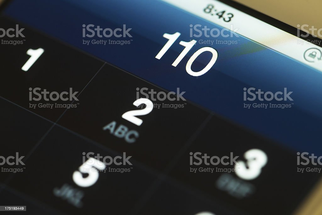 emergency call royalty-free stock photo