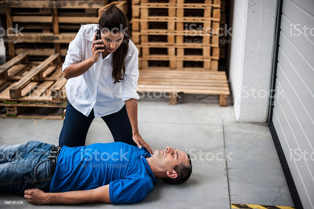 Emergency call stock photo