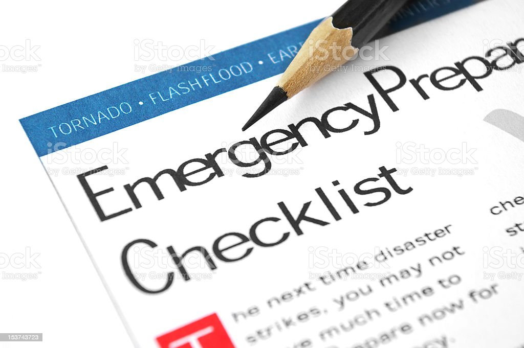 Emergency Checklist royalty-free stock photo