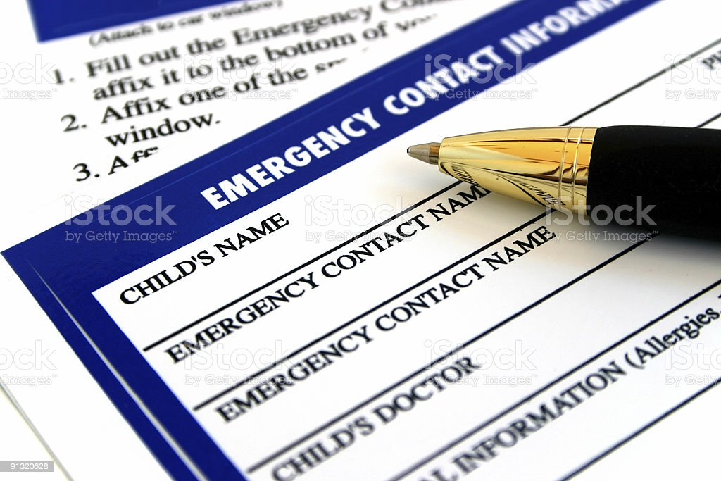 Emergency Contact Information royalty-free stock photo
