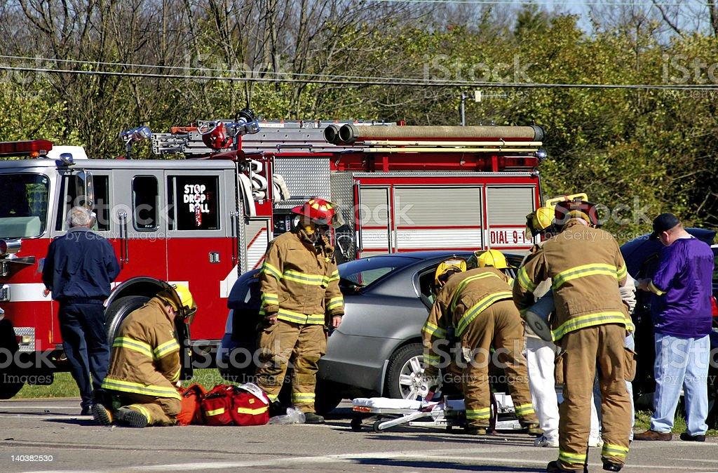 Emergency Crew on the Scene royalty-free stock photo