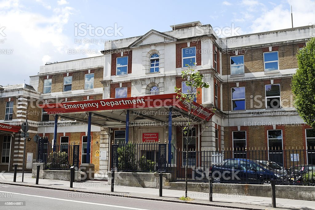 Emergency Department at King's College Hospital, London royalty-free stock photo