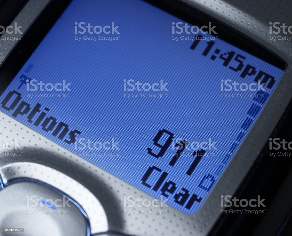 Emergency - Dialing 911 royalty-free stock photo