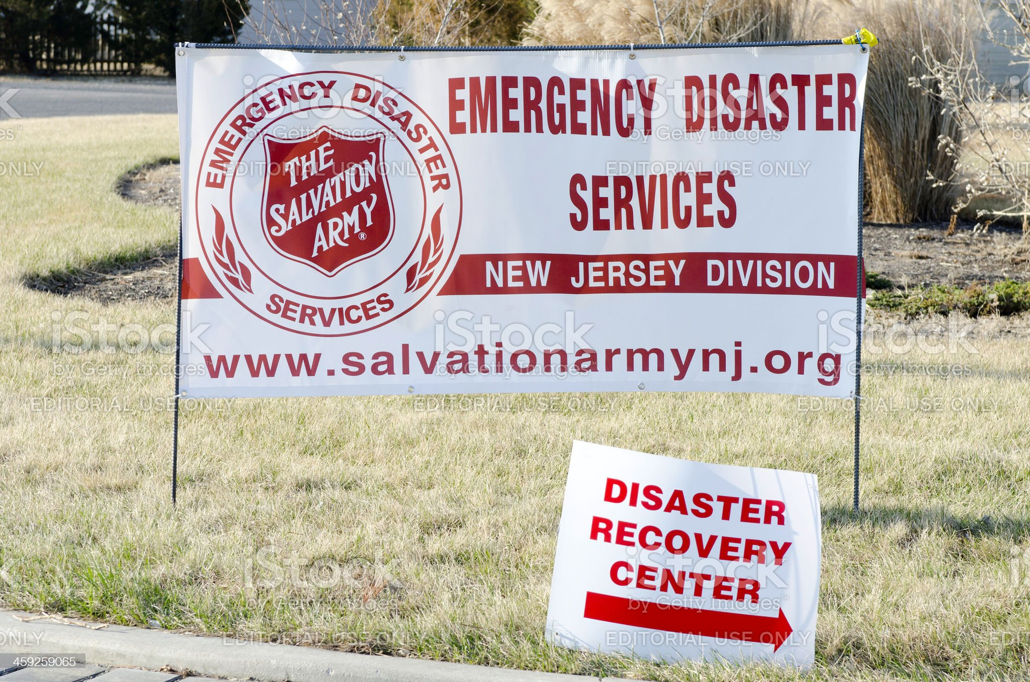 Emergency Disaster Services Center Signs royalty-free stock photo