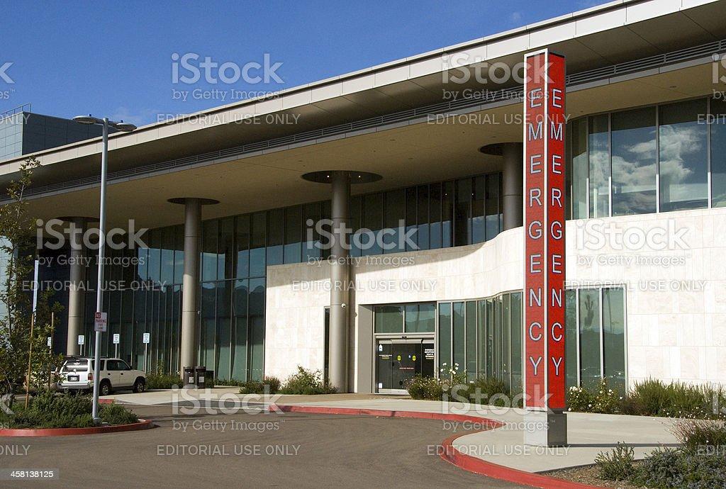 Emergency Entrance, Palomar Medical Center stock photo