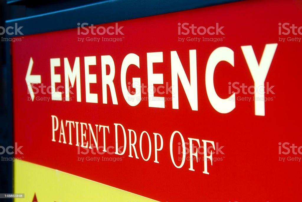 Emergency Entrance Sign stock photo