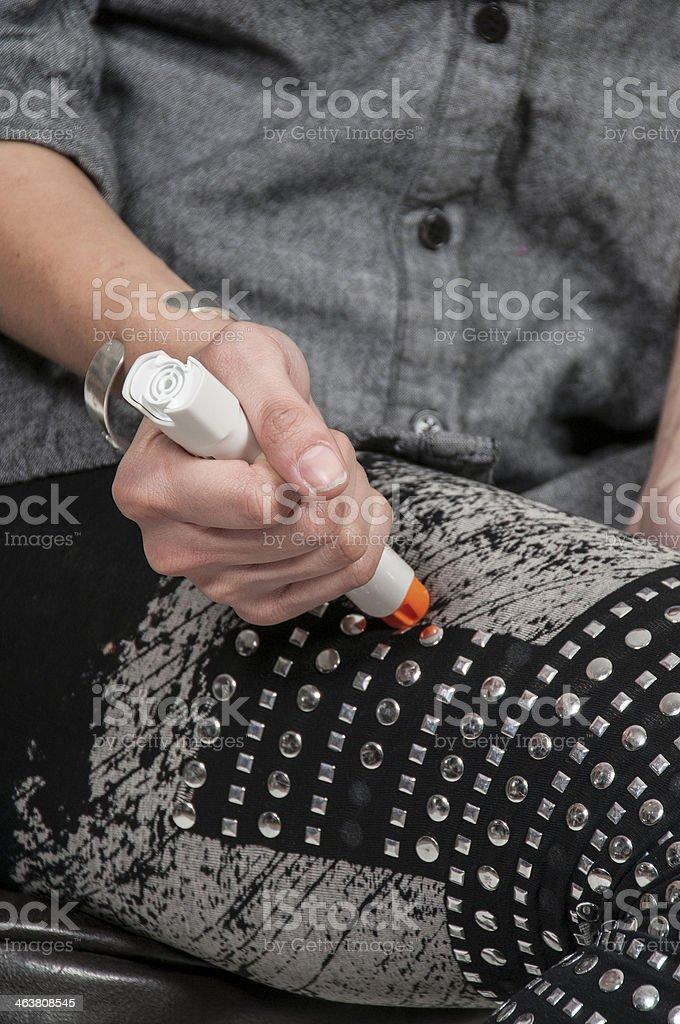 Emergency Epinephrine stock photo