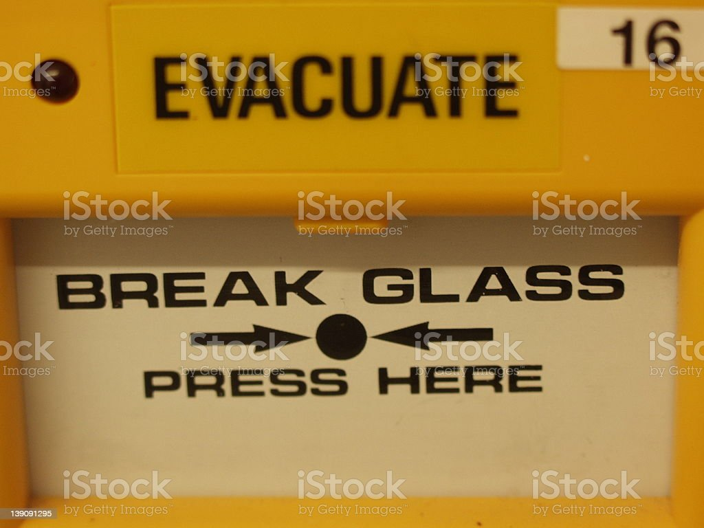 Emergency Evacuation royalty-free stock photo