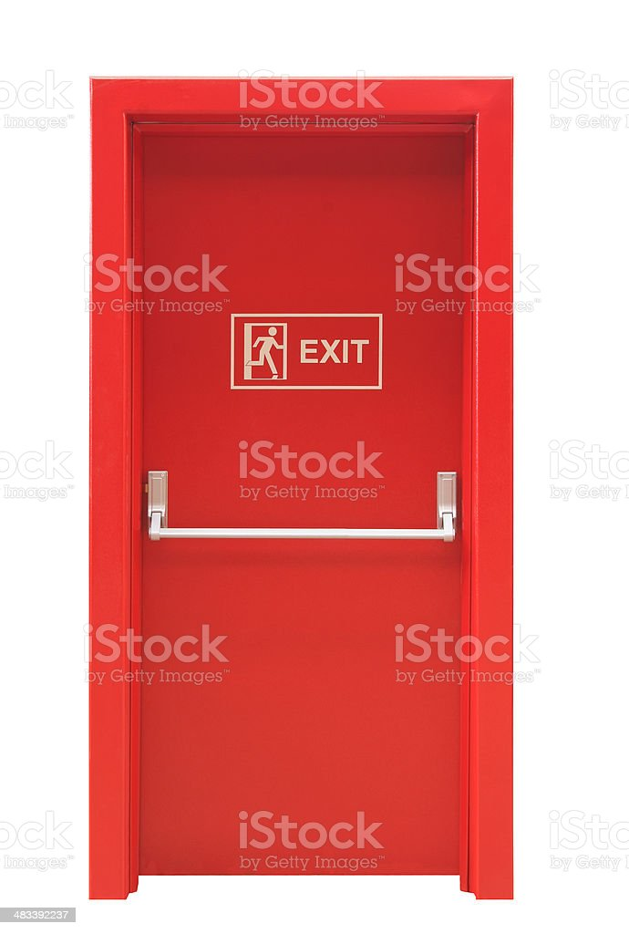 Emergency Exit Door stock photo