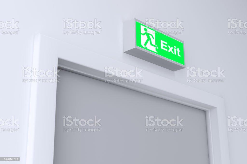 Emergency Exit Door stock photo