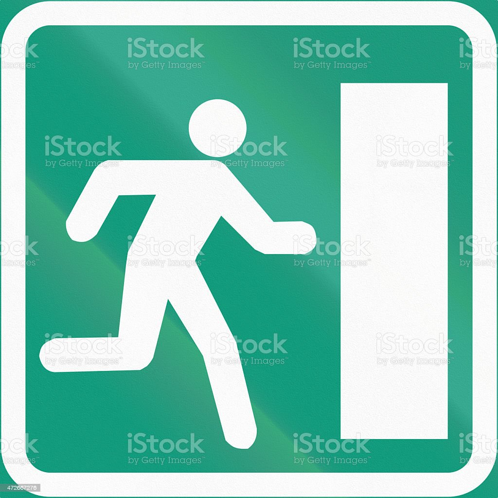 Emergency Exit In Finland stock photo