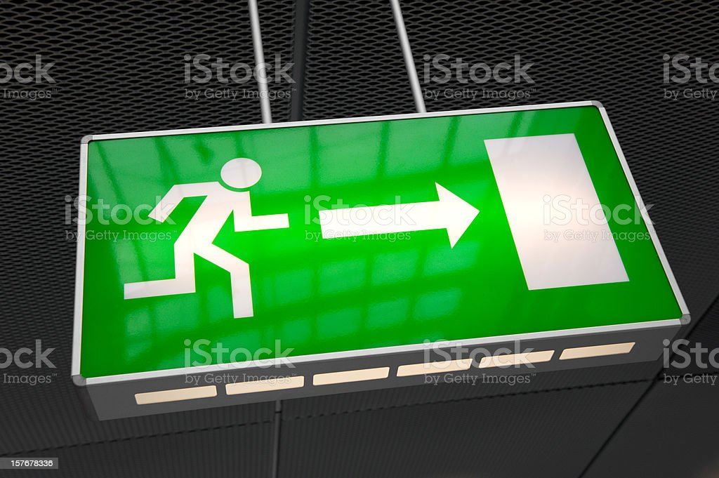 Emergency exit light sign royalty-free stock photo
