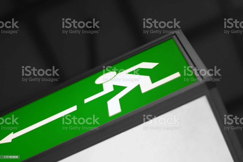 Emergency exit royalty-free stock photo