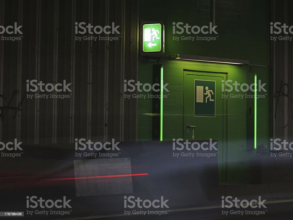 Emergency Exit stock photo