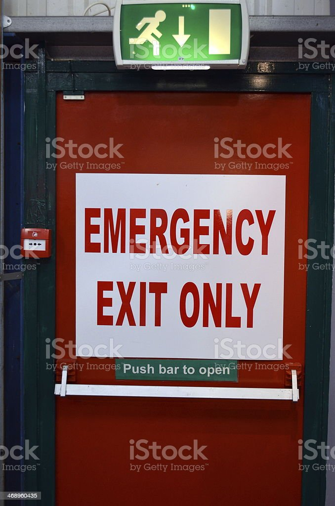 Emergency Exit. stock photo