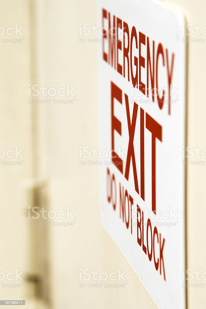 Emergency Exit Sign royalty-free stock photo