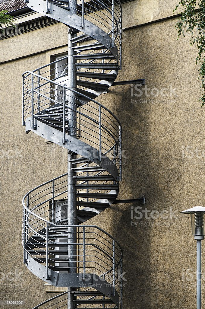 Emergency exit spiral staircase royalty-free stock photo