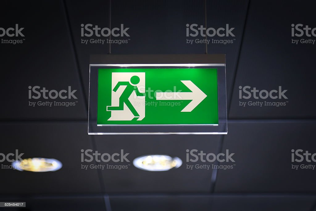 Emergency exit - Stock Image stock photo