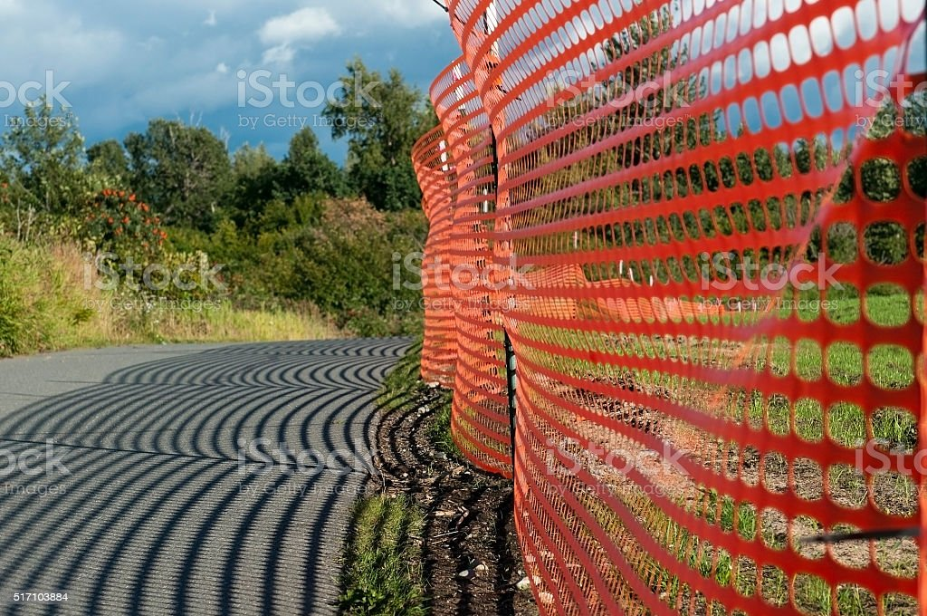 emergency fence stock photo