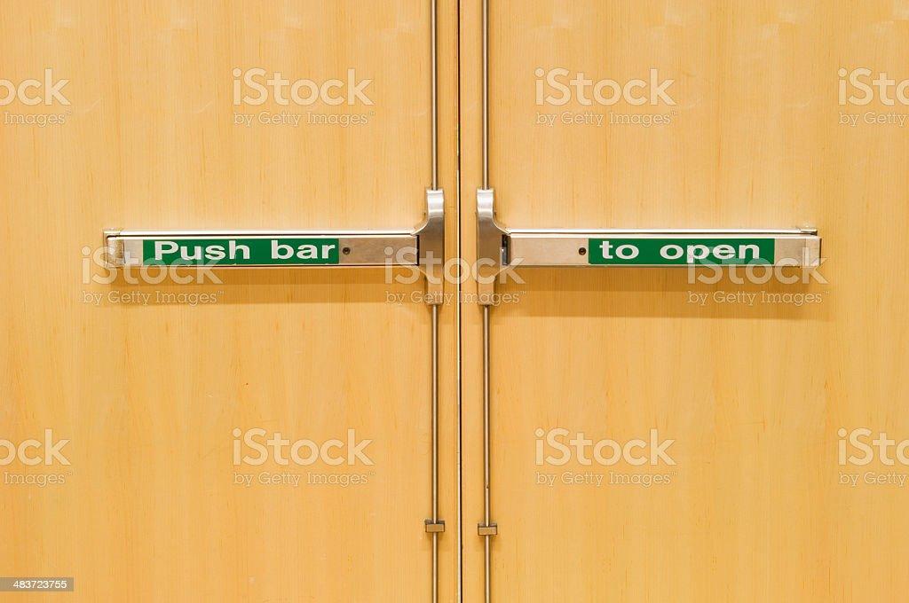 Emergency fire doors stock photo