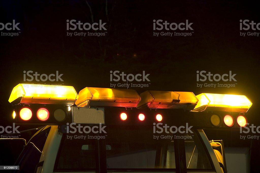 Emergency flashing lights stock photo