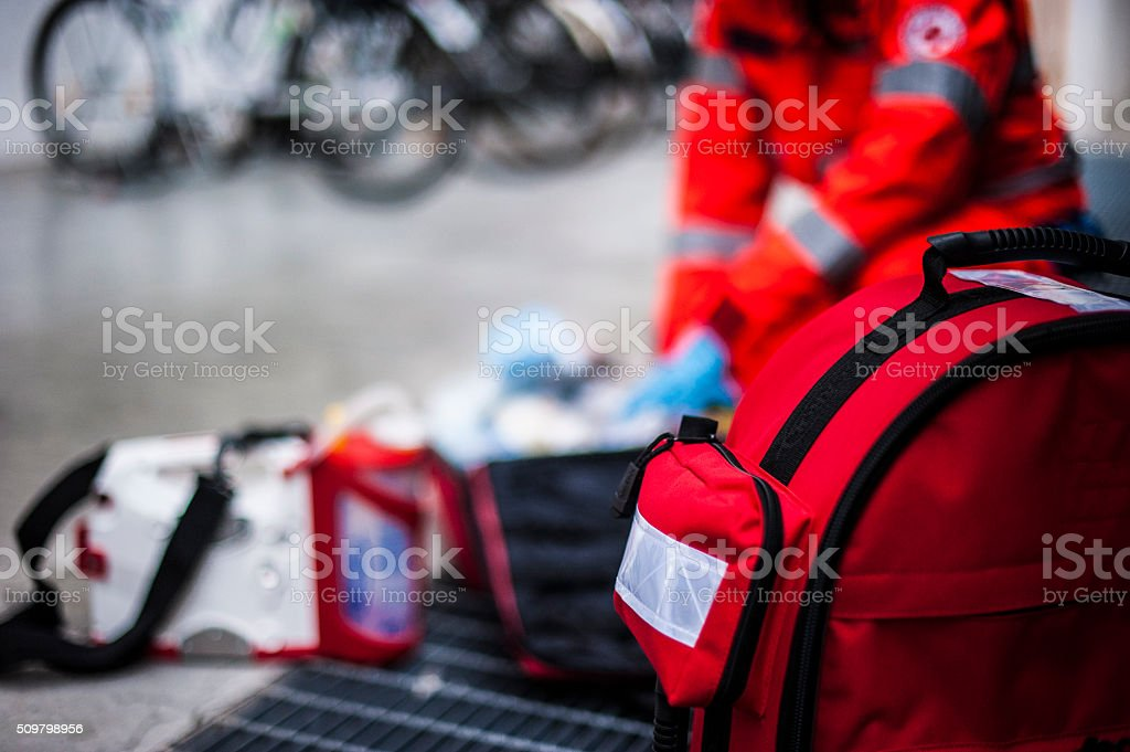 emergency for an accident stock photo