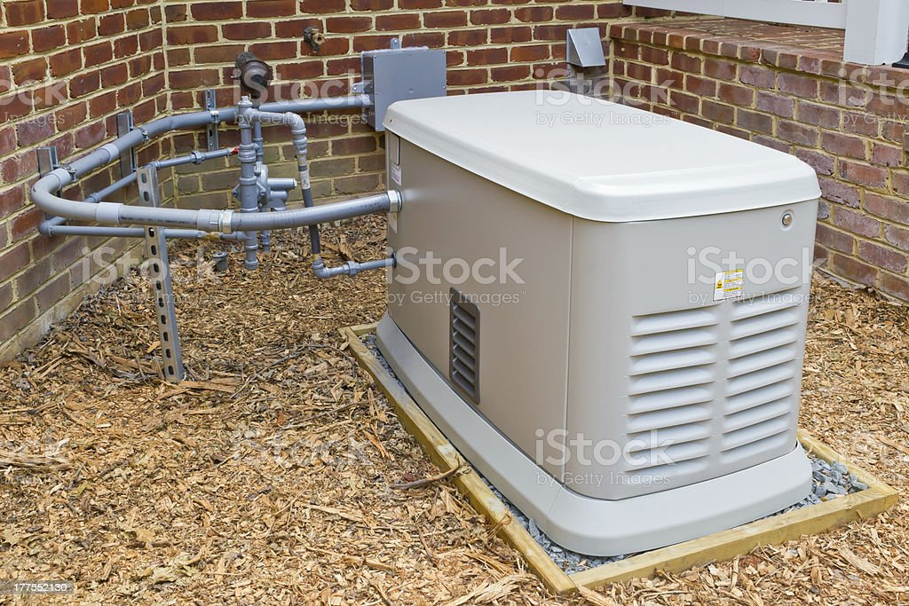 Emergency Home Electricity Generator stock photo