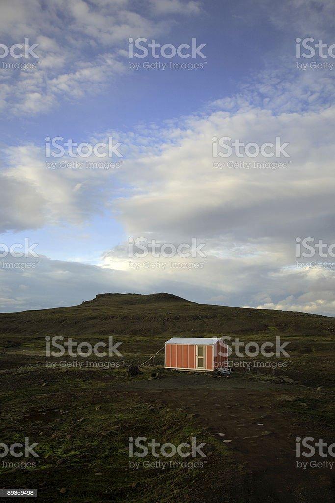 Emergency hut royalty-free stock photo