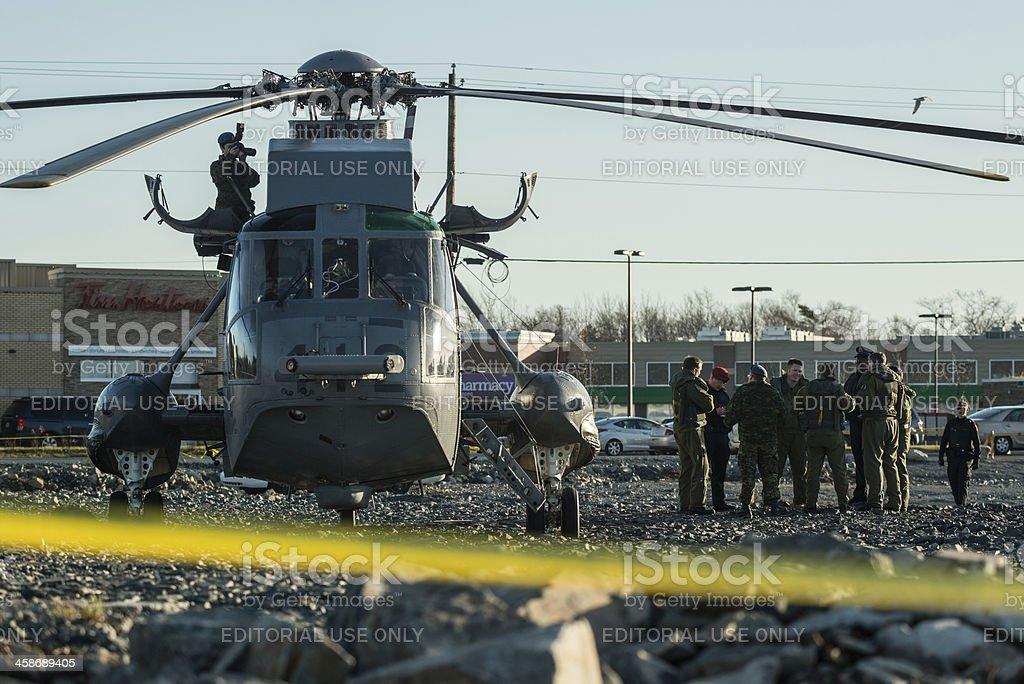Emergency Landing stock photo