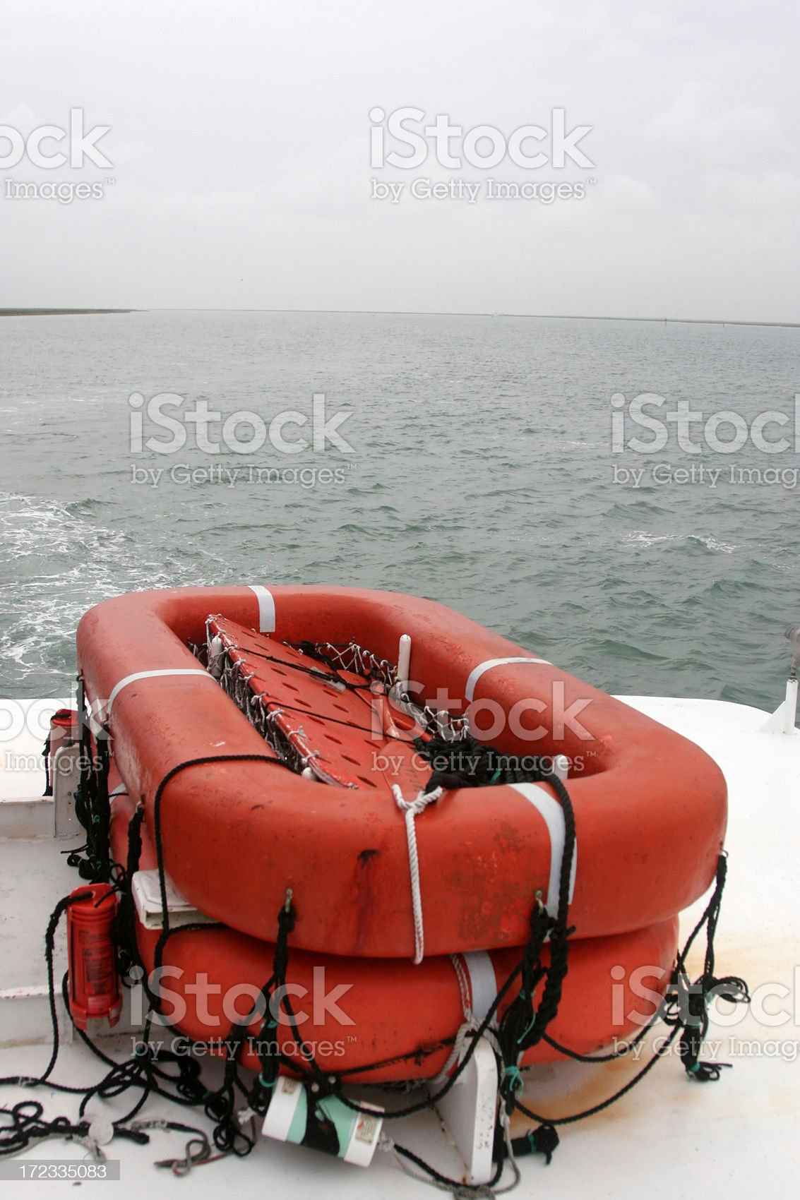 Emergency Lifeboat royalty-free stock photo
