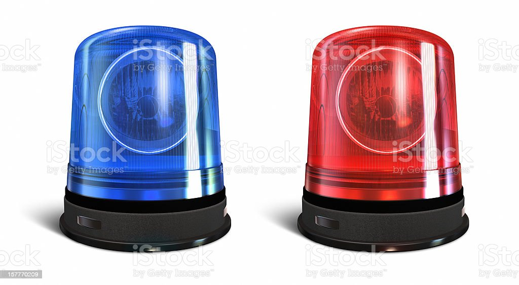 Emergency lights stock photo