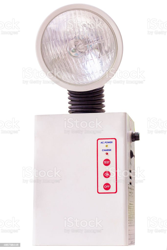 emergency lights stock photo
