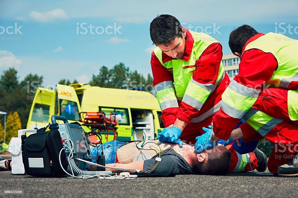 Emergency medical service stock photo