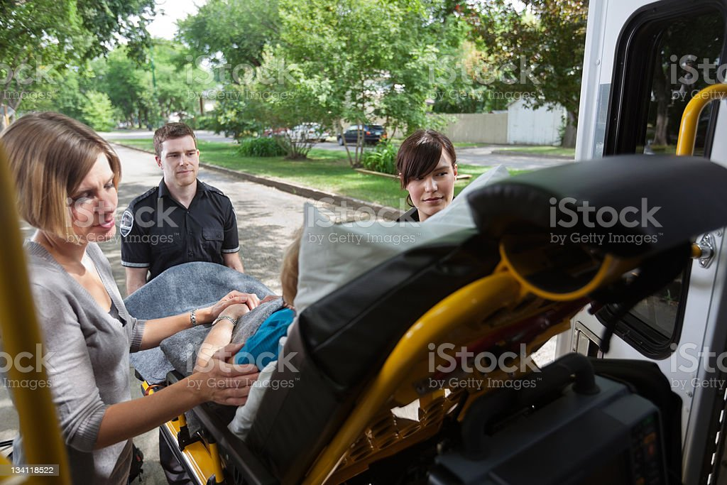 Emergency Medical Services Transport royalty-free stock photo